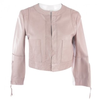 Schumacher Pink Leather Jacket for Women
