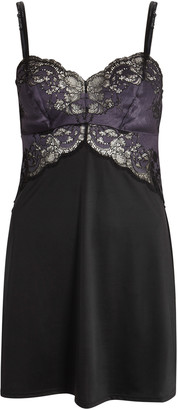 Wacoal Lace Affair Black Jersey Chemise