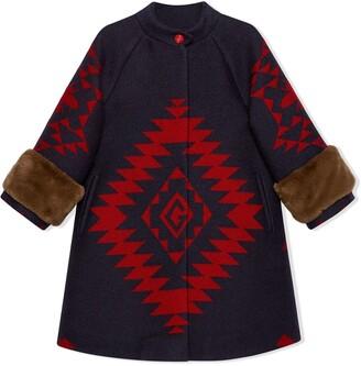 Gucci Kids Geometric Bee Coat