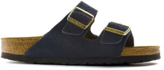 Birkenstock Arizona Navy Suede Sandals - 40 / narrow fit