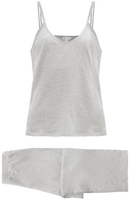 Skin Calista Organic Cotton Jersey Cami Pyjamas - Grey