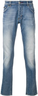 Philipp Plein Faded Slim-Fit Jeans