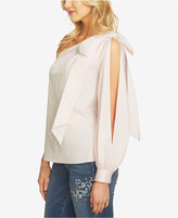 CeCe One-Shoulder Bow Blouse