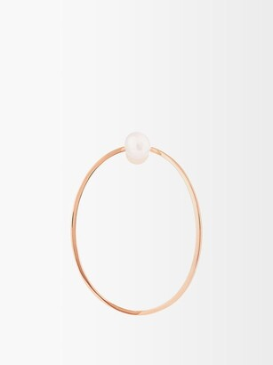Delfina Delettrez Pearl & Pink Gold Medium Earring - Womens - Pink Gold