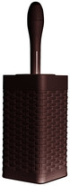 Superio Brand Palm Luxe Square Toilet Brush and Caddy, Brown, Square