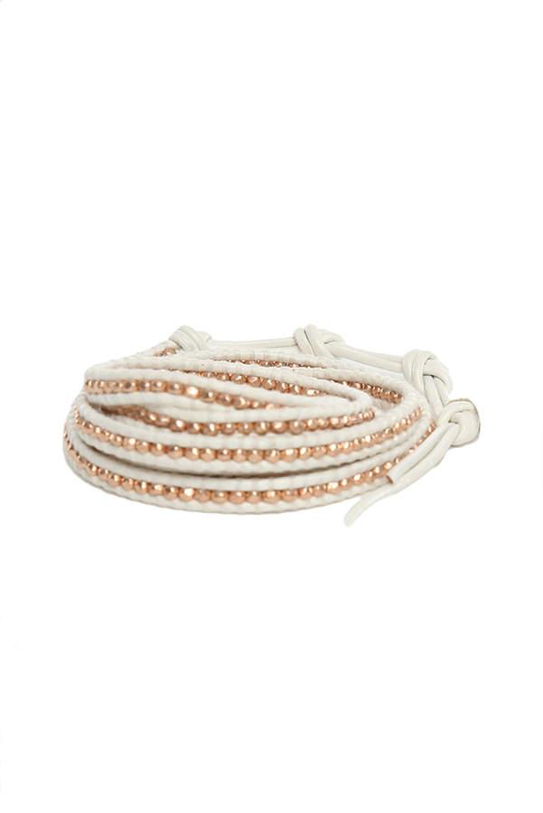 Chan Luu White Rose Gold Wrap Bracelet