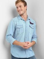 Gap Denim embroidered western shirt