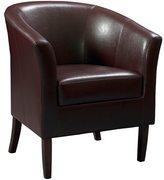 Linon Andrew Barrel Club Chair Ebony Upholstery