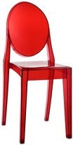 The Well Appointed House Contemporary Acrylic Red Dining Side Chair