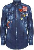 DSQUARED2 Western Long Sleeve Badge Shirt