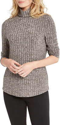 Nic+Zoe Petite Champion Marled Turtleneck Sweater