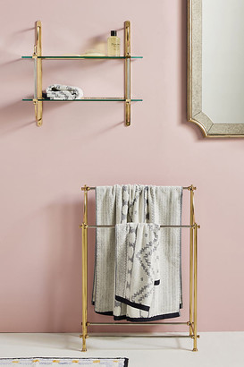 Anthropologie Sylvie Standing Towel Rack By in Brown Size ALL