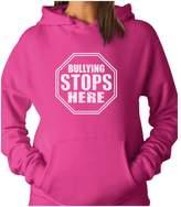 TeeStars - Bullying Stops Here Day Shirt Stop Sign Design Women Hoodie