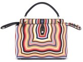 Fendi Dotcom Hypnotic Wave Leather Satchel - None
