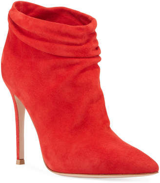 Gianvito Rossi Slouchy Suede Ankle Booties
