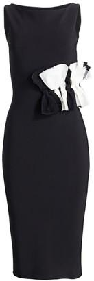 Chiara Boni Ribbon Tulle Midi Dress