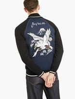 Junya Watanabe Blue Knitted Wool-blend Bomber