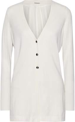 Elie Tahari Monique Silk, Cotton, And Cashmere-blend Cardigan