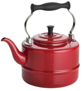 Bonjour Tea 2 Qt. Porcelain Enameled Teakettle - Red