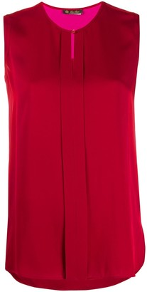 Loro Piana Sleeveless Silk Tank Top