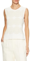 Derek Lam Embroidered Ribbed Shell