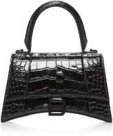 Balenciaga Hourglass Croc-Effect Leather Handbag