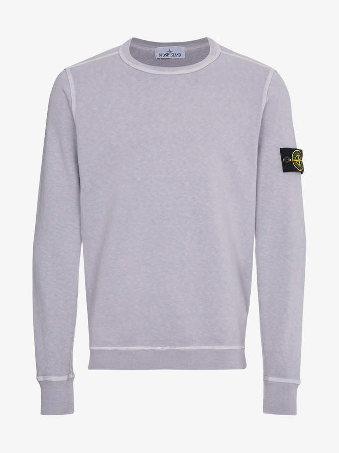 Stone Island Lilac dyed crew neck sweater