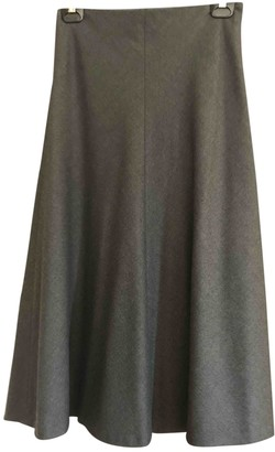 Theory Grey Wool Skirt for Women
