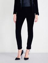 Alexandre Vauthier Tuxedo skinny velvet and satin trousers