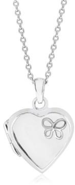 Rhona Sutton 4 Kids Children's Butterfly Heart Locket in Sterling Silver