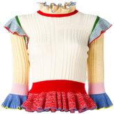 Alexander McQueen peplum jumper - women - Silk/Polyamide/Spandex/Elastane/Wool - XS
