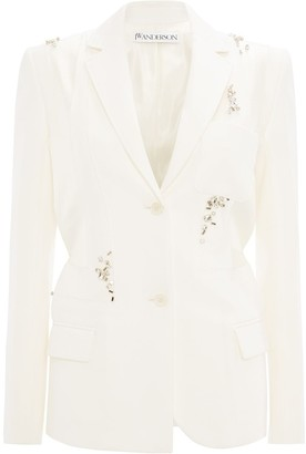 J.W.Anderson Crystal-Embellished Single-Breasted Blazer