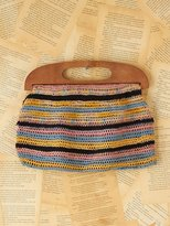 Free People Vintage Multicolor Striped Crochet Bag