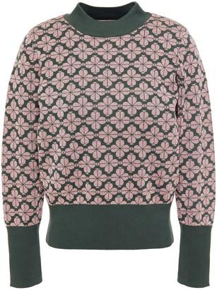 Kate Spade Metallic Cotton-blend Jacquard Sweater