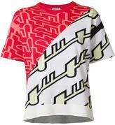 Kenzo contrast print T-shirt - women - Silk/Cotton - S