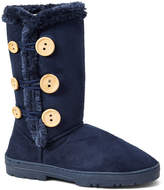 Navy Side-Button Boot
