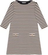 Gucci Striped wool dress with patch