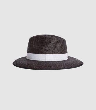 Reiss IVY WOVEN HAT Black