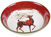 Certified International Winter Garden Reindeer Shallow Pasta Serving Bowl