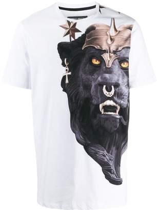 Frankie Morello lion print T-shirt