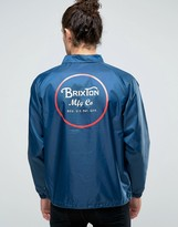Brixton Wheeler Coach Jacket With Back Print