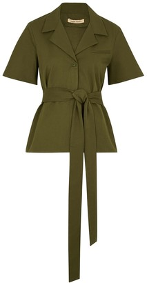 Maggie Marilyn Trust In Me Olive Stretch-twill Top