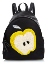 Fendi Apple mini shearling and nylon backpack