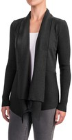 Cable & Gauge Draped Front Cardigan Sweater (For Women)