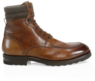 Saks Fifth Avenue COLLECTION Wallabee Leather Boots