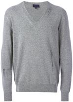 Lanvin distressed v-neck sweater - men - Silk/Polyamide/Cashmere/Wool - S