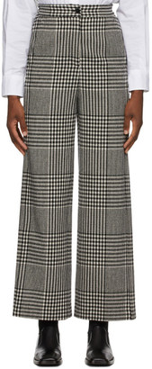 MM6 MAISON MARGIELA Black and White Check Wide-Leg Trousers