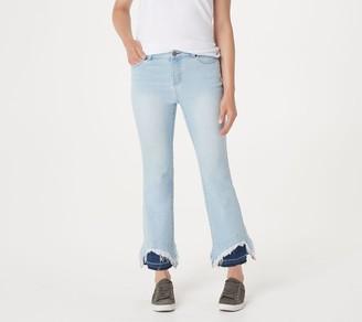 Peace Love World Indigo DenimJeans with Contrast Hem Detail