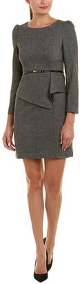 V&A Vogue Va Wool-Blend Sheath Dress