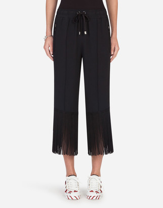 Dolce & Gabbana Cady Pants With Bands And Fringing